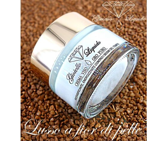 gioiello liquido  crema viso oro puro 50ml