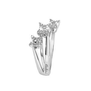 Trilogy in oro bianco con diamanti