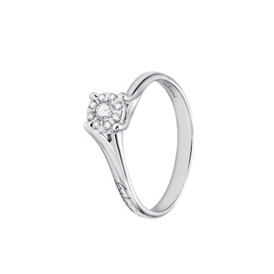 Anello in oro bianco con diamanti