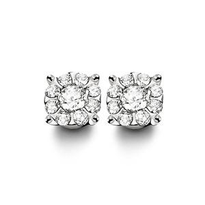 Orecchini in oro bianco e diamanti