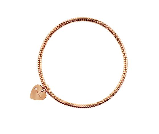 Bracciale in oro rosa 9 KT con diamanti