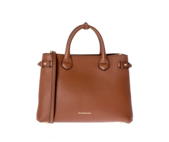 BURBERRY MEDIUM BANNER BORSA TAN