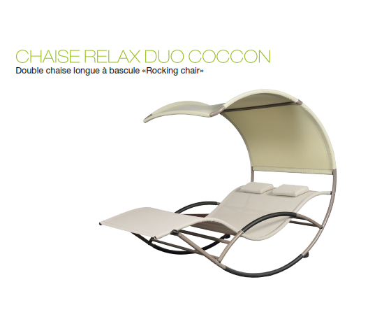 Chaise Cocoon Duo Relax