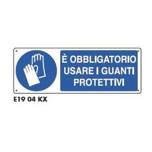 Cartelli di obbligo - Obbligatorio guanti protettivi