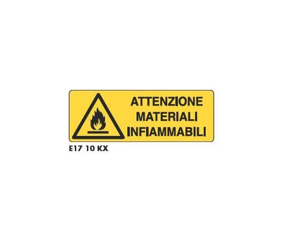Cartelli materiali infiammabili