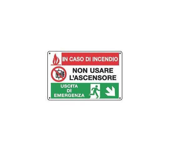 Cartelli multisimbolo - Non usare ascensore 2