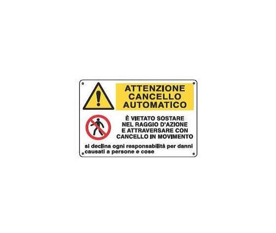 Cartelli attenzione cancello automatico