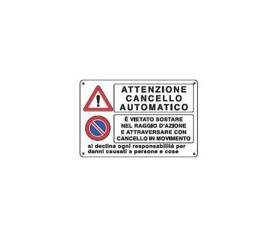 Cartelli attenzione cancello automatico2