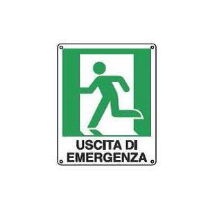 Cartelli di emergenza-Uscita di emergenza sx