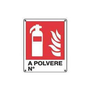 Cartelli antincendio-Estintore a polvere