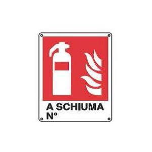 Cartelli antincendio-Estintore a schiuma