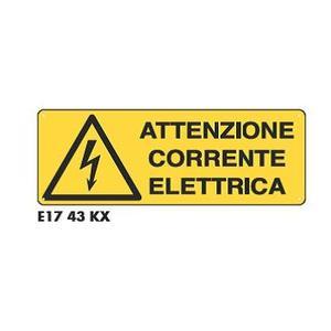 Cartelli di pericolo - Corrente elettrica