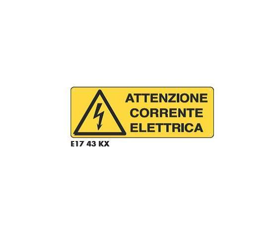 Cartelli attenzione corrente elettrica