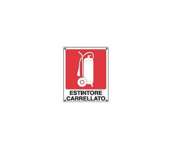 Cartelli antincendio-Estintore carrellato