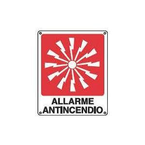 Cartelli antincendio-Pulsante allarme antincendio