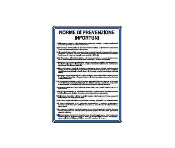 Cartelli norme di prevenzione infortuni