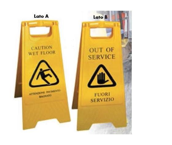 Cavalletto segna pericolo - pavimento bagnato
