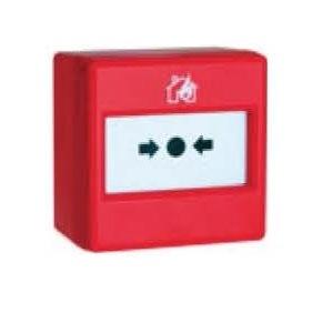 Pulsanti manuali ripristinabili per impianti antincendio 87x87x53 mm