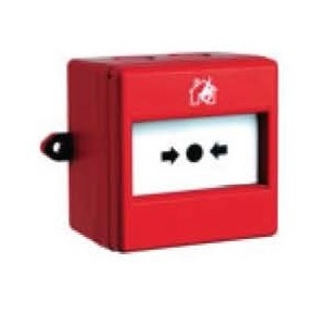Pulsanti manuali ripristinabili per impianti antincendio 110x110x65 mm