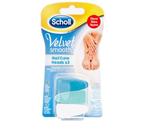 VELVET SMOOTH NAIL CARE HEADS X3