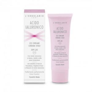 CC Cream Crema Viso SPF 20 con Acido Ialuronico 50ml L'Erbolario
