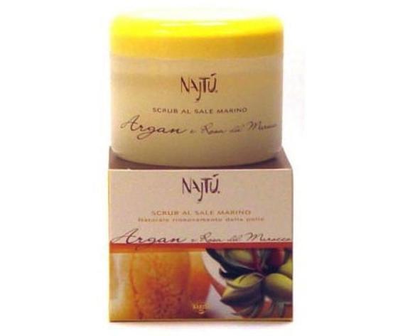 Scrub al Sale Najtu Argan e Rosa del Marocco 250 ml