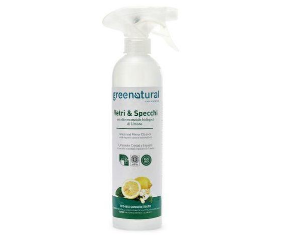 GREENATURAL Vetri & Specchi con olio essenziale biologico di limone