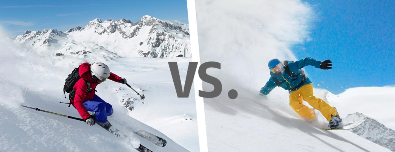 Ski vs snowboard
