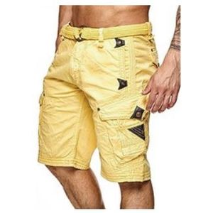 Short Pratique Colore Giallo