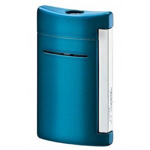 Dupont Minijet  accendino cromo laccato blu elettrico