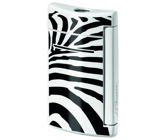 Dupont Minijet  accendino  laccato zebra