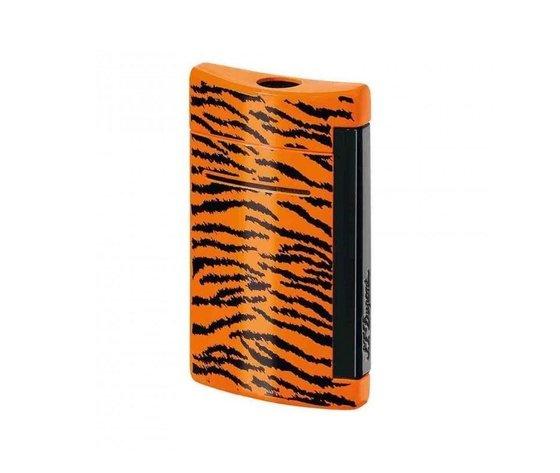 Dupont Minijet  accendino  laccato tigrato arancione
