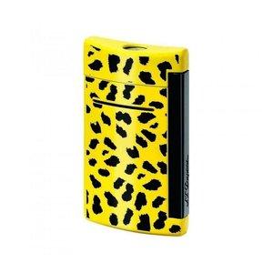 Dupont Minijet  accendino  laccato giallo leopardato