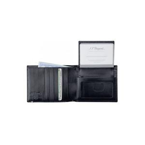 Portafoglio per carte di credito con sezione rimovibile S.T. Dupont Ligne D - Nero Elysée