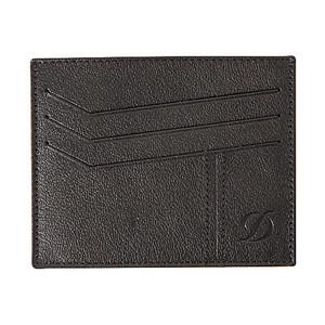 Portafoglio Dupont in pelle nera con carta di credito (6CC / Carta Pocket)
