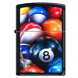 Accendino ZIPPO Mazzi 8 Ball Billiards - Black Matte (nero opaco)