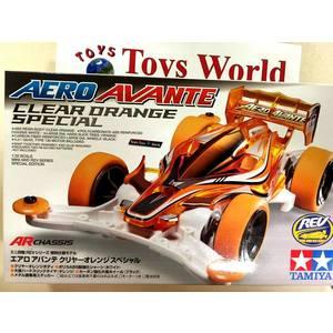 Mini4wd aero avante  CLEAR Arancione speciale
