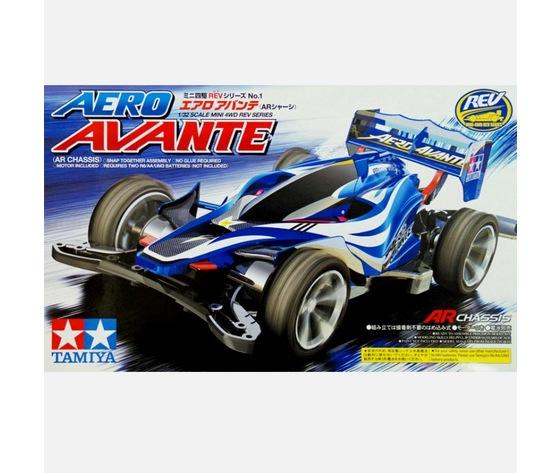 Mini4wd aero avante modello da costruire con motore