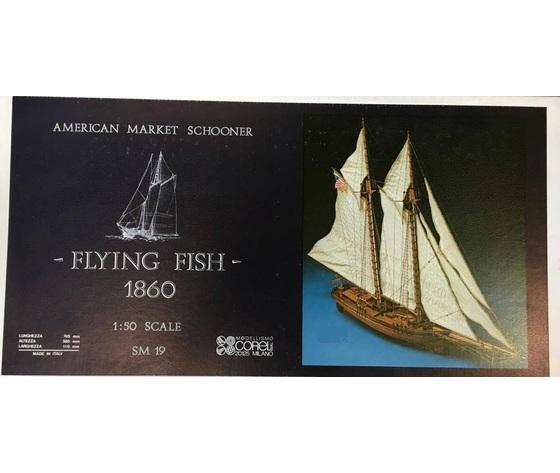 veliero barca Flying Fish modello legno