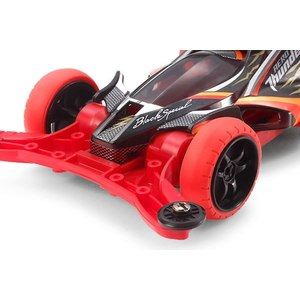 Mini4wd aero thunder shot black special modello da gara