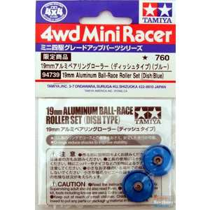 rotelle alluminio BLU con o-ring 19mm