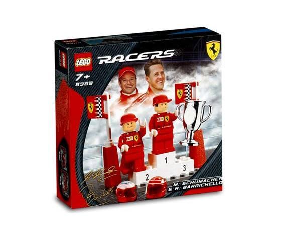 Lego Schumache e Barrichello confezione Ferrari storica