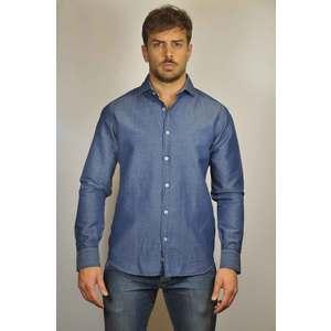 Camicia cotone-lino  J-SHIRT mod. STEVE US413 Slim