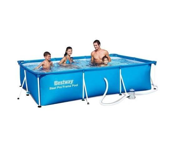 56411 piscina fuori terra strutturata con motore bestway 300 x 201 x 66 c