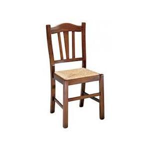 Sedia Silvana Legno seduta Paglia Noce