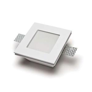 Faretto quadrato in gesso con vetro temperato