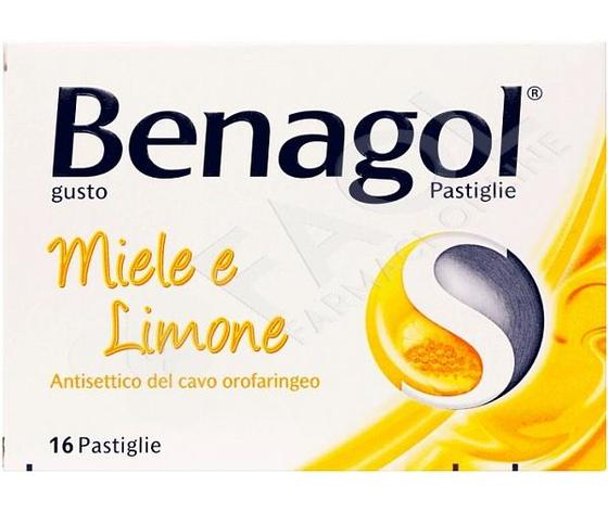 Reckitt Benckiser H.(IT.) SpA Benagol 16 pastiglie Miele Limone
