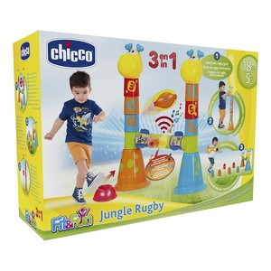 CHICCO fit & fun jungle rugby gioco 3 in 1 18 m+