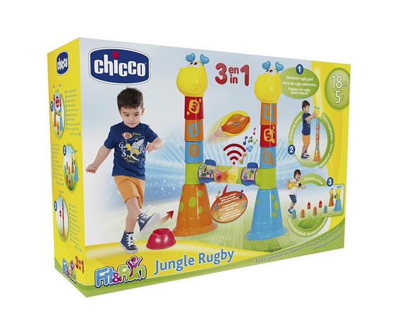 CHICCO fit & fun jungle rugby gioco 3 in 1 18 m+