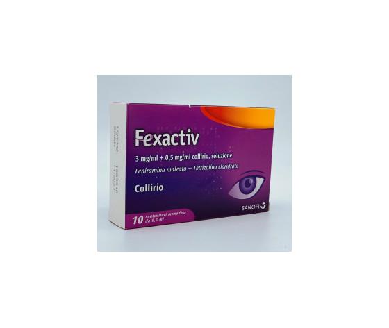 SANOFI SPA Fexactiv Collirio 10 Flaconcini Monodose da 0.5ml
